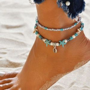 Jewelry - 💕Silver shell anklet